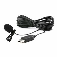 Movo M1 USB Lavalier Lapel Clip-on Computer Microphone for PC and Mac (20' Cord)