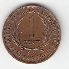 MONNAIE  1 CENT CARIBBEAN TERRITORIES 1961 THE SECOND QUEEN ELIZABETH