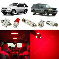 8x Red LED lights interior package kit for 2002-2010 Ford Explorer FX1R