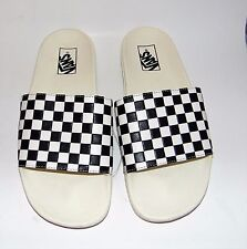 New VANS Checkerboard Slide Sandals, Shower Shoes, 11 Women, run Wide