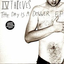 "IV THIEVES - THE DAY IS A DOWNER E.P - 7"" GREY VINYL SINGLE - MINT"