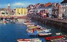 RV045 Old-fashioned-sized 1970s POSTCARD The Harbour - Ilfracombe - Posted 1977