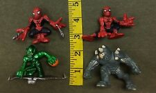 Super Hero Squad Mixed Toy Lot  Web Spiderman Green Goblin Rhino