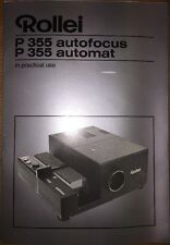 Rollei P 355 Autofocus Automat In Practical Use Instruction Manual Booklet Guide