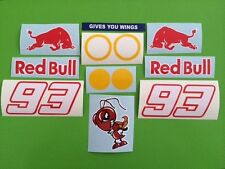 Marc Márquez 93 casco y visera O Carenado Stickers Calcomanías-Kit De 12 Piezas # 84