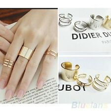 3Pcs/Set Fashion Top Of Finger Over The Midi Tip Finger Above The Knuckle rings