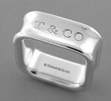TIFFANY & Co. STERLING SILVER 1837 SQUARE RING WEDDING BAND SIZE 4.5