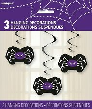 """3 Spider Web HANGING SWIRL DECORATIONS 26"""" Long HALLOWEEN Party Supplies"""