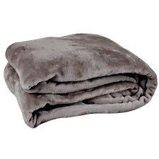 Twin Size Charcoal Ultra Plush Velour Blanket