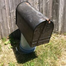 Large Vintage Rustic Galvanized Steel Old Farm Mailbox$$  reduced $$$$ again