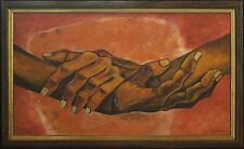 "Eduardo Kingman - SOSIEGO Original Oil on Canvas. 1973. ""The Painter of Hands"""
