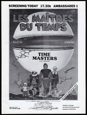 TIME MASTERS__Orig. 1982 Cannes Trade AD / screening promo__Les Maitres du temps