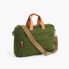 J. Crew Harwick Briefcase.  Leather Trimmed. Canvas.