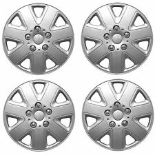 "SET OF 4 x 14 INCH (14"") ALLOY LOOK WHEEL TRIMS COVER HUB CAPS TYRE CAP SILVER"