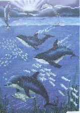 PUNTO Croce Kit-Mondo di acqua-DELFINI-Pollyanna Pickering-DMC bk801