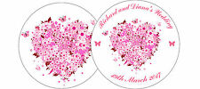 ✿ 24 Edible Rice Paper Cup Cake Toppings - floral wedding hearts x 24 ✿