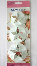Flower Cutters, Set of 3 Large Calyx Cutters,  Sugarcraft, Cake Decorating