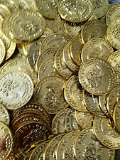 500 Gold Play Coins Treasure Birthday Party Favor Loot Toy Pirate Pinata Bulk