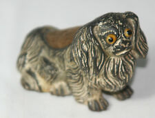 WOOF!~Antique c1870 ~~Imperial Chinese Dog Pekingese Pin Cushion~~Weighted Metal
