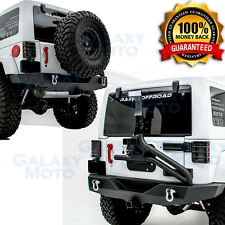 07-17 Jeep Wrangler JK Full Width Rear Bumper+Tire Carrier+Single handed Linkage