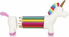 Cute Einhorn UNICORN Rainbow REGENBOGEN Pencil Holder / STIFTEHALTER Rockabilly