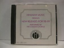 Hinshaw Music Presents New Releases 98-99 CD Performed Colson Chorale 1998 cd655