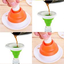 Kitchen Gadgets Mini Telescopic Funnel The Silicone Portable Small Funnel Hot