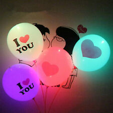 5 Pcs LED Flash Latex Love Balloons Kids Toys Contain 2 Button Batteries Hotsale