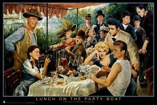 GEORGE BUNGARDA ~ LUNCH ON THE PARTY BOAT 24x36 POSTER Marilyn Monroe James Dean