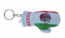 mini boxing gloves keychain keyring key chain leather ring Flag Mexico