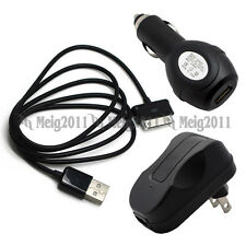 USB Cable+Car+Wall Charger for Samsung GALAXY Tab 2 10.1 GT-P5113 P5110 P5100