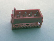 4 each 8 Way Micro-Match Male On-Wire Connector AMP or Tyco 7-215083-8