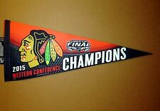 2015 Chicago Blackhawks Western Conference Champs Stanley Cup NHL Pennant
