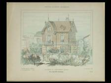 COLOMBES, MAISON - 1906 - PLANCHES ARCHITECTURE - GALOPIN