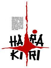 "16x20""Decoration CANVAS.Interior design art.Harakiri Japanese suicide.6349"