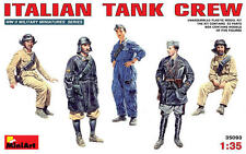 WW II ITALIAN TANK CREW (TO SEMOVENTE, FIAT, ANSALDO, ETC) 1/35 MINIART