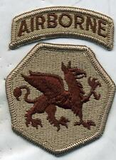 US Army 108th Airborne Division DCU Desert Tan Patch W/ Airborne Tab RIGHT