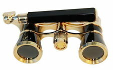 HQRP 3 x 25 Opera Glasses Black Binocular for Theater Museum Gallery