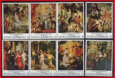 ANTIGUA 1993 LOUVRE classic PAINTINGS by RUBENS x2 SETS MNH