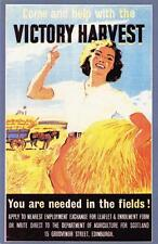 Postcard Nostalgia WW2 Recruitment Poster Victory Harvest Reproduction Card #2