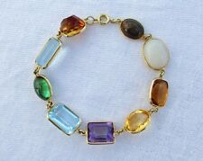 18k Yellow Gold Multi-Color Gemstone Bracelet Hand Assembled 18.4 Gram H. Stern?