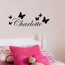 Personalized Butterfly Decor Any Name Vinyl Wall Sticker Kids Bedroom Art Decal