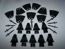 LEGO® custom minifigure RINGWRAITH lot hood lotr sword black nazgul hobbit cape