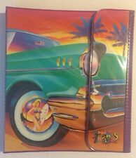 Vintage Lisa Frank Trapper Keeper 3 Ring Binder Trifold w/ 2 folders & Notebook