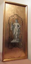 antique reverse applied gold leafed figural nude etching engraving print art