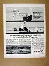 1962 Solar Gas Trubine EFL Package heat power system diagram vintage print Ad