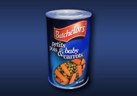 1:12 Scale Peas and Carrots Tin Dolls House Miniature Food Cans