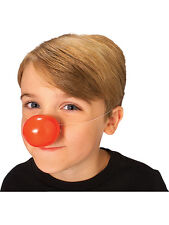 Unisex Plastic Red Nose Day Rudolph Clown Circus Comic Relief Fancy Dress Prop