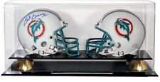 Double Football Mini Helmet Display Case With Free Name Plate And Risers