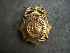 obsolete 1930 New Jersey Delano and Stone Detective Agency Chief police badge